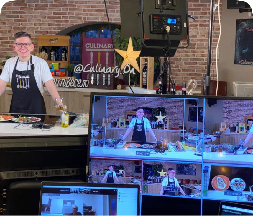 Virtual culinary event